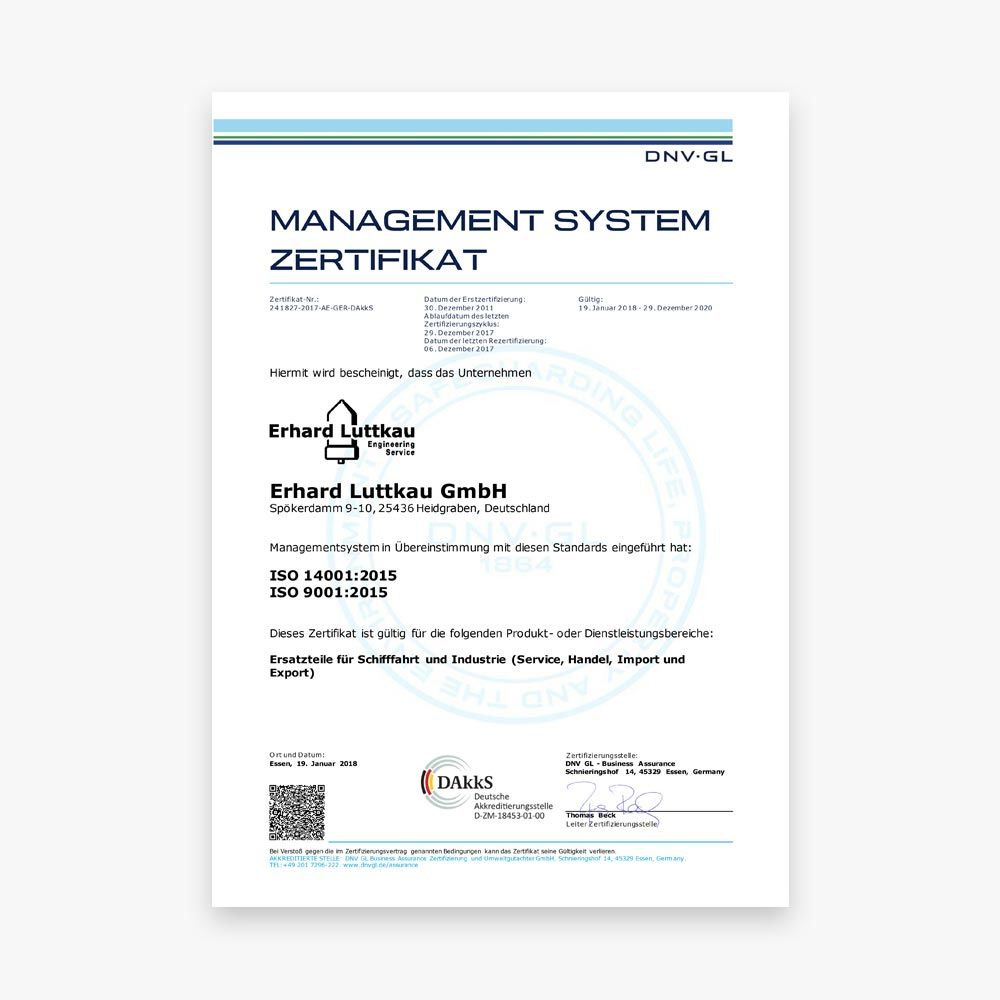 Management System Zertifikat